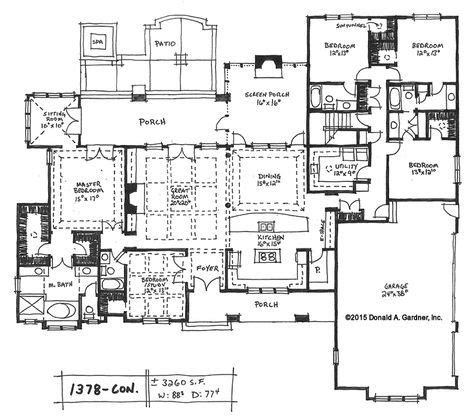 one story house plans with large kitchens 333 best house plans images on pinterest house floor