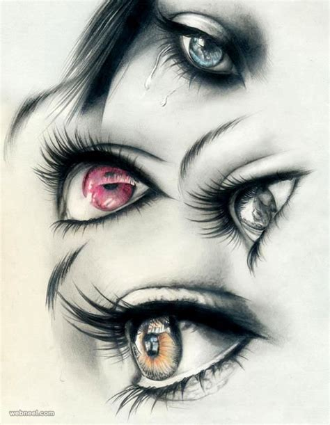 60 Beautiful And Realistic Pencil Drawings Of Eyes Drawing Top Beautiful Color Images