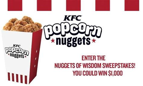 Kfc Sweepstakes - people kfc nuggets of wisdom sweepstakes sweepstakesbible