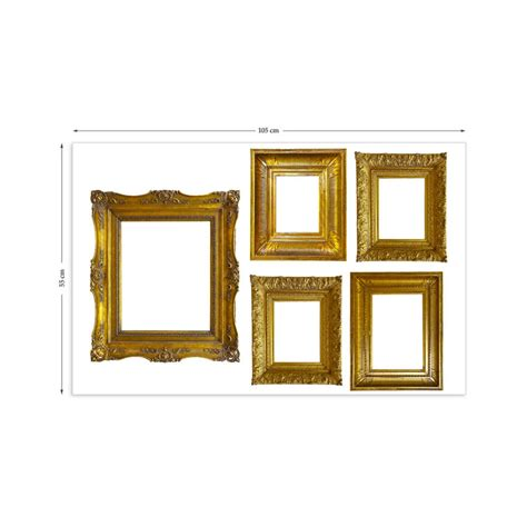 frame stickers for walls gold photo frames wall stickers by the binary box