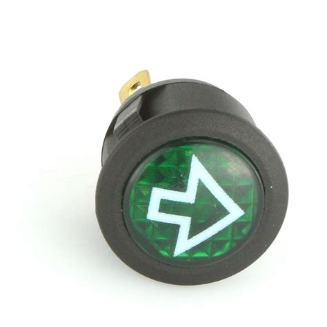 green light auto solutions 23mm dia indicator green led warning light car builder