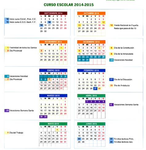 Calendario Escolar Castilla Y Fp El Escritorio De La Maestra