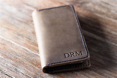 Iphone Handmade - handmade leather iphone wallet personalized
