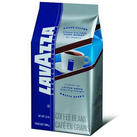 Lavazza Gran Filtro Dark Roast   Whole Coffee Beans, 2.2 Pound Bag   Coffee Super Shop