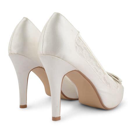new womens satin bow stiletto high heel peep toe