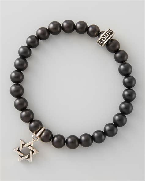black onyx bead bracelet for king baby studio black onyx bead of david bracelet in
