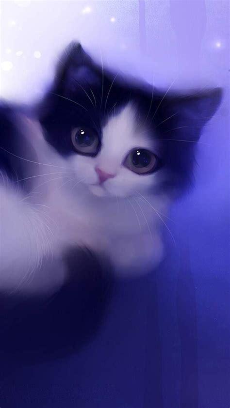 cat wallpaper cartoon cute purple hd cat wallpaper
