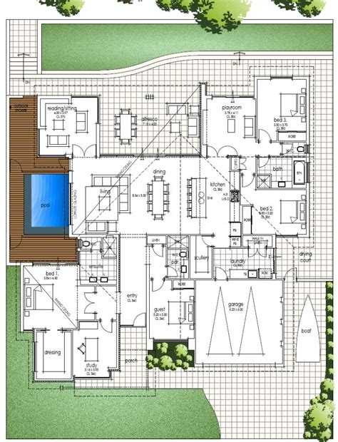 small modern floor plans fantastic single storey house design an architect tribute