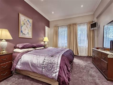 purple accent wall grey and purple bedroom paint ideas one bedroom apartments n picture