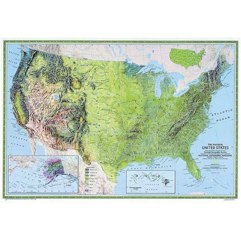 map usa national geographic national geographic the usa map physically