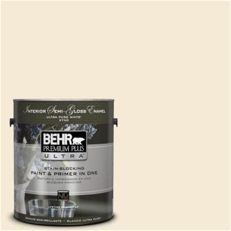 behr premium plus ultra 1 gal icc 10 vanilla semi gloss enamel interior paint 375001