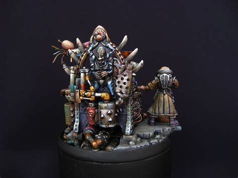professional painting workshop miniatures patriarch genestealer by luisgomezpradal 183 putty paint