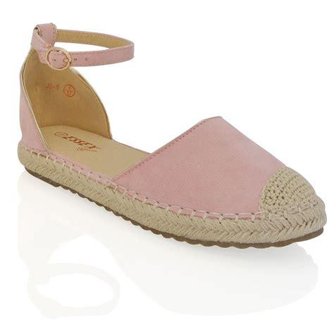 Fashion Flat Shoes 703 womens espadrilles ankle flat sandals summer