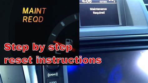 How To Reset Toyota Highlander Maintenance Light 2013 Toyota Highlander Maintenance Required On