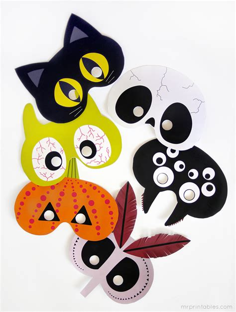printable halloween masks links with love easy last minute halloween crafts and