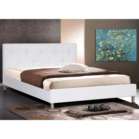 white tufted queen bed barbara leather tufted queen platform bed in white
