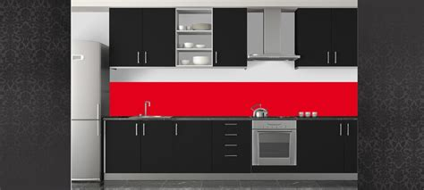Beau Peinture Rouge Pour Cuisine #2: Credencecuisine-credence-cuisine-rouge-6.jpg