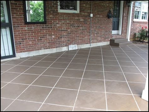 How To Tile A Patio by New Tile Patio Floor Reveal Beneath