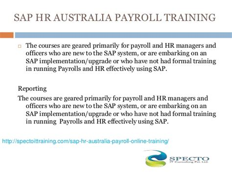 Sap Courses For Mba Hr by Sap Hr Australia Payroll In Usa