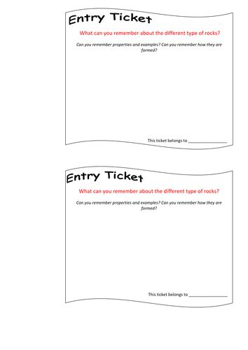entry tickets template entry and exit ticket progress checker in lesson