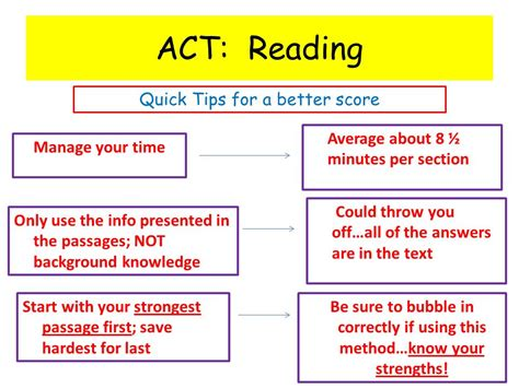 tips for reading section of act welcome to act reading mrs tomhave ppt video online