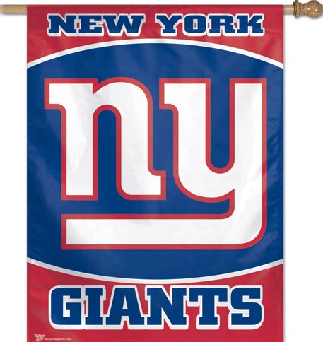 ny giants colors new york ny giants logo team color vertical banner flag