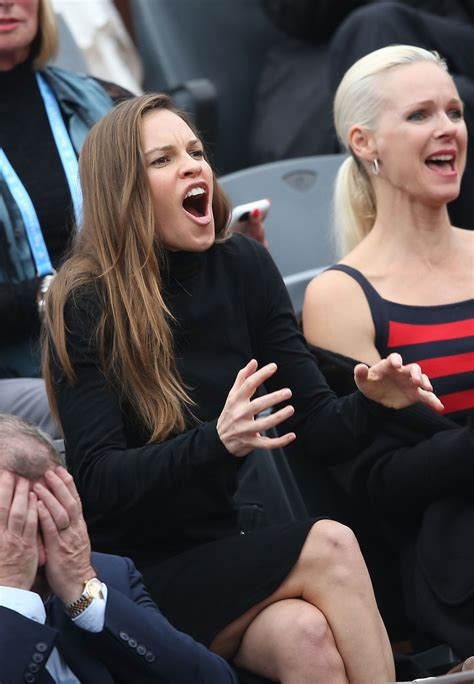 hilary swank  french open final  roland garros