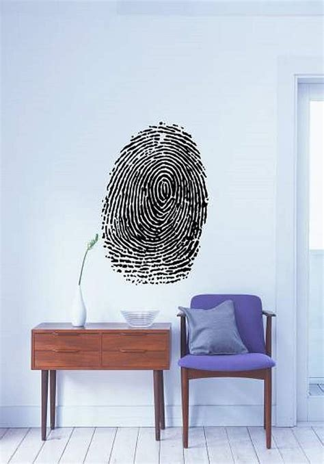 zazous wall stickers fingerprint wall sticker by zazous notonthehighstreet