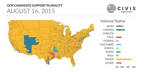 primary map donald s dominance of the republican primary so far in one map vox
