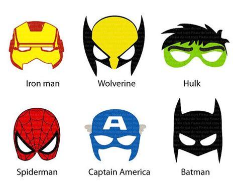 printable super heroes mask 9 best images of printable superhero mask cutouts super