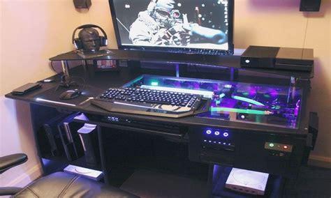 desk computer case ultimate gaming pc custom desk build