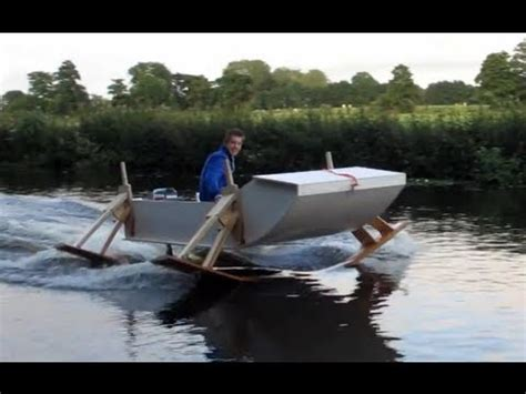 homemade punt boat hydrofoilboat homemade youtube