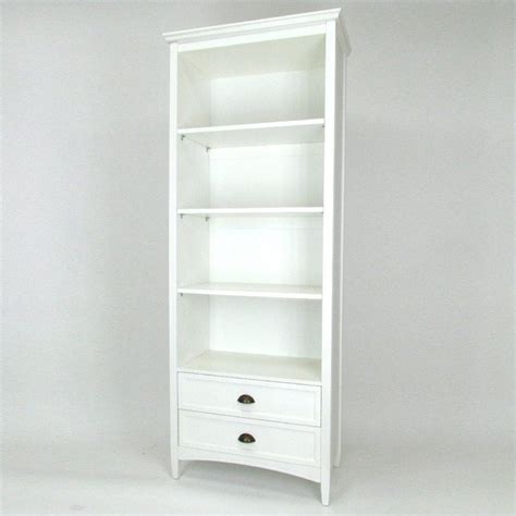 3 shelf bookcase with drawers in white 9123w