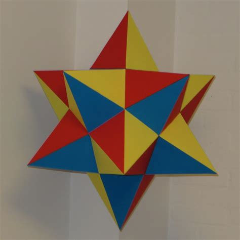 Paper Great Dodecahedron - paper small stellated dodecahedron