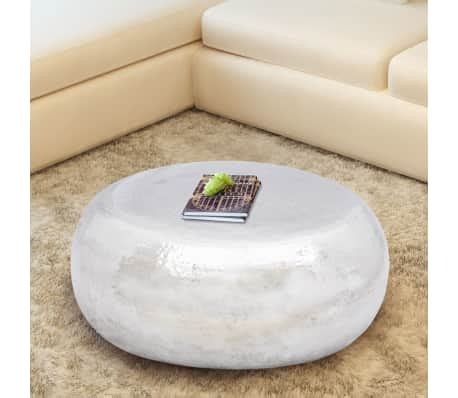 hammered aluminium coffee table vidaxl hammered aluminium coffee table silver vidaxl co uk