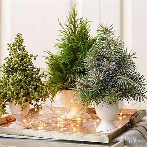 mini tree centerpieces 12 ways to use evergreen cuttings in your decor