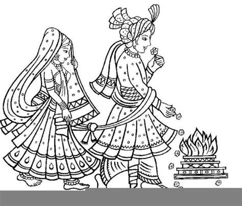 Indian Hindu Wedding Clipart   Free Images at Clker.com