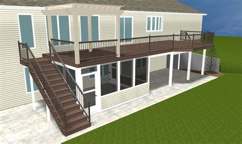 second floor deck plans a brand new ft wayne area second story deck with pergola