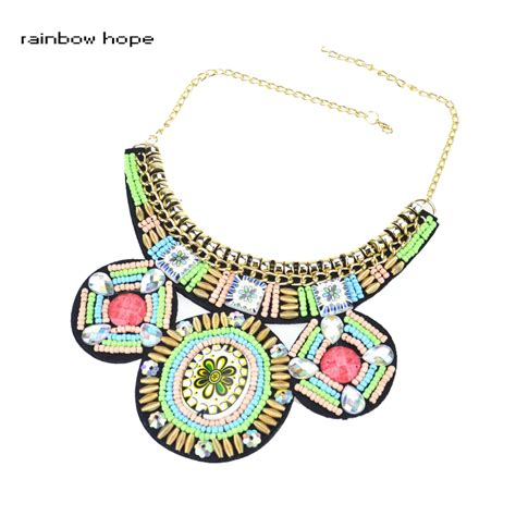 Trendy Handmade Jewelry - 2016 trendy jewelry handmade embroidery multicolor bead