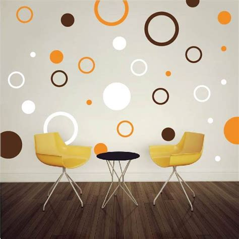 trendy wall design rings and dots wall decals trendy wall designs