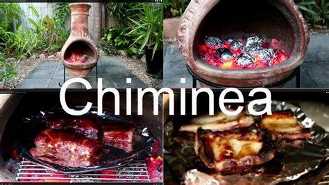 chiminea how to cook pork ribs and roast vegies