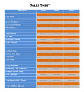 sales sheet sample 6 documents in pdf word excel