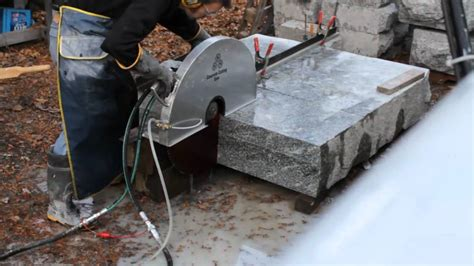 how to cut granite for cutting stone with hydraulic hand saw youtube