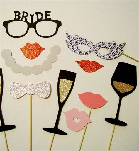 Bridal Shower Photo Booth bridal shower photo booth props 16 pc wedding photobooth