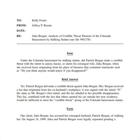 Memo Template Pdf Sle Memo Template 10 Free Documents In Pdf