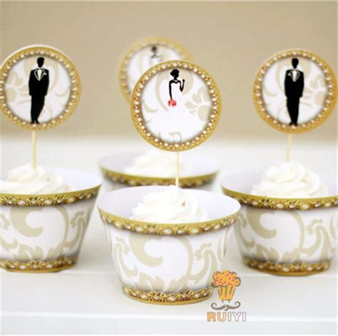 Cupcakes Setwedding And Birthday aliexpress buy 24pcs wedding cupcake wrappers