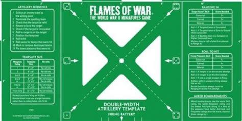 v4 card template flames of war paizo flames of war green width artillery