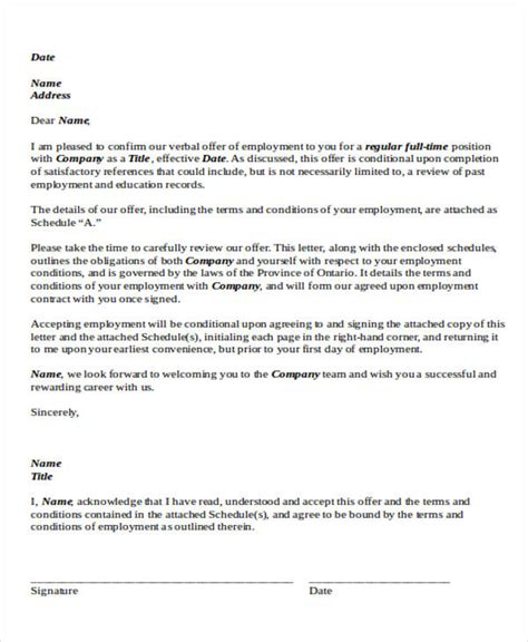 Letter Of Employment Agreement Sle Agreement Letter Formats