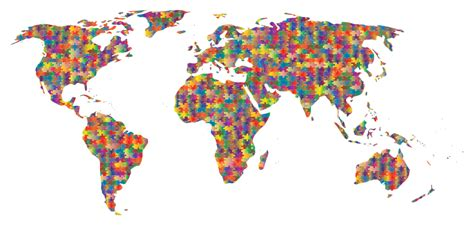 Jigsaw Puzzle World Map Clipart Prismatic Jigsaw Puzzle World Map 5