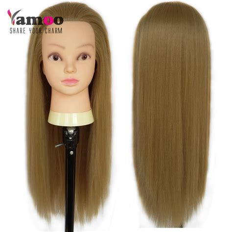 flaxen color hair dressing 65 cm 100 high temperature